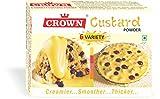 6 Variety (6-in-1) Custard Powder 300g - 150g x Pack of 2 (150g = 25g x 6 Flavors each :Vanilla, Raspberry, Pineapple, Strawberry, Mango, Orange)