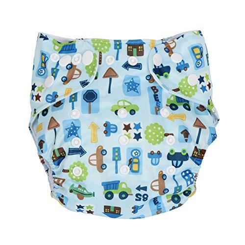 Letech® Baby Stoffwindel Windelhose Babywindel Größe Verstellbar (Dorf)