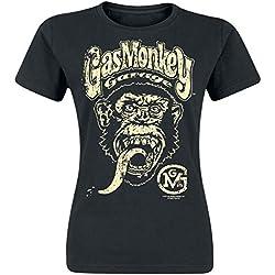 Gas Monkey Garage Logo Camiseta Negro L
