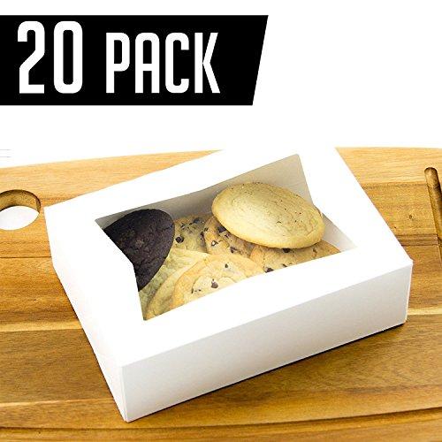 on mit Fenster, 21,6x 13,5x 5,1cm, perfekt für Cookies und Gebäck, 20-Stück ()