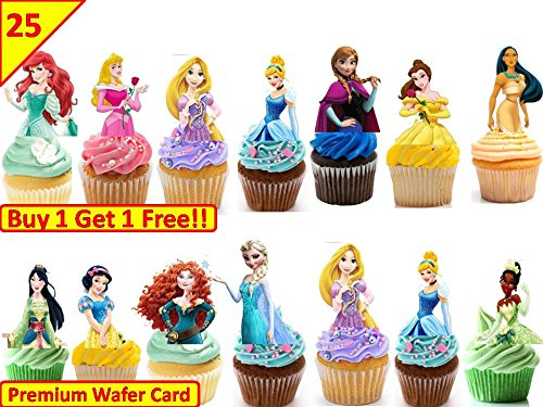 f Body Essbare Cup Cake Topper Premium Wafer * Stand Up * (Disney Cake Topper)