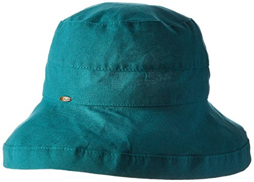 scala-womens-medium-brim-cotton-hat-teal-one-size