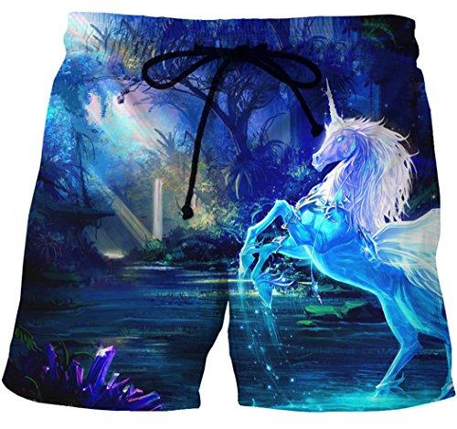 XueXian(TM) Homme Pantalon Plage Courte Casual Confortable avoir Dessin pour Eté en Polyester Couleur5
