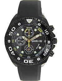 gooix Reloj de hombre reloj de pulsera Chrono Caucho Analog gx01102200