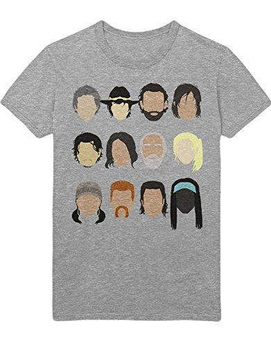 T-Shirt TWD Characters C980045 Grau L (Tshirt The Carl Dead Walking)