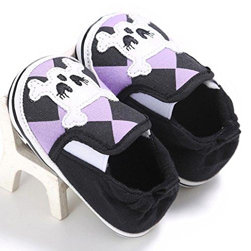 BZLine® Baby Baumwolle weiche Sohle Schuh weiche Schuhe Flats Schuhe Schwarz