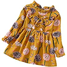 Envío GRATIS. ❤ Modaworld Vestidos Bebé Niña,Vestido de Estampado de Flores Florales de Manga Larga
