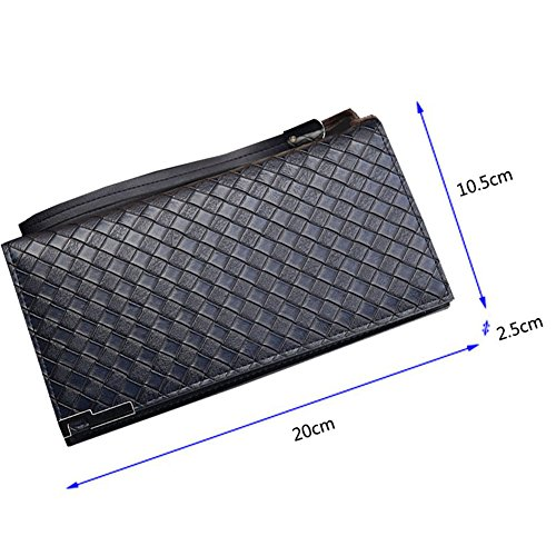 Wewod.The neue Retro-große Kapazität lange Brieftasche Geldbörse Herren ' s koreanische Handy Tasche Clutch Geldbörse Marineblau
