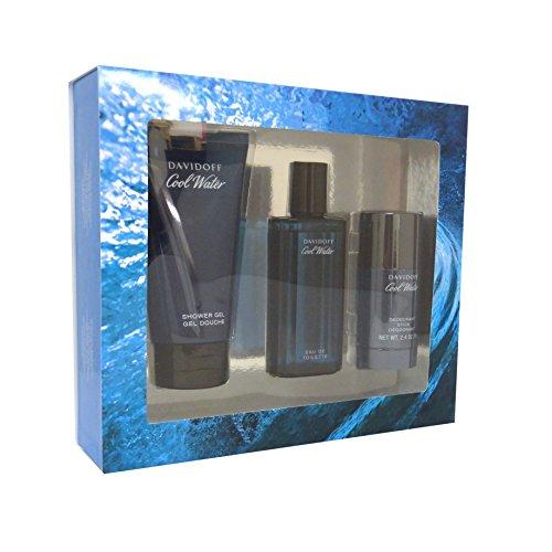 Davidoff Cool Water Geschenkset (Eau de Toilette, 75ml und Shower Gel, 150 ml und Deodoranr Stick 70 g), 1 Stück
