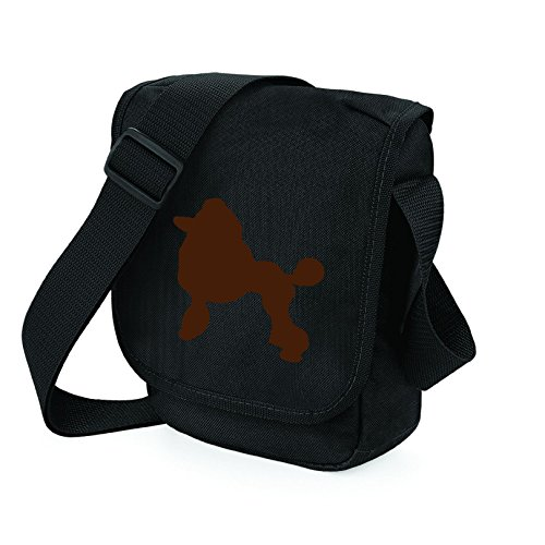 Bag Pixie - Borsa a tracolla unisex adulti Brown Dog Black Bag