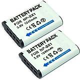 Mondpalast @ Remplacement Batterie X2 NP-BX1 1240mah avec infochip pour Sony DSC-HX90V HX90 WX500 DSC-W500 RX100 III RX1 DSC-RX1, RX100, DSC-RX100 RX100 II, HX300, WX300 Digital Cameras, Sony action cam FDR-X1000VR FDR-X1000V HDR-AS200VT HDR-AS200VB HDR-AS200VR