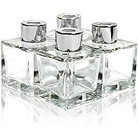 Frandy House Diffusor-Flaschen / Raumduftverteiler, aus Glas, mit Kappen, quadratische Form, Höhe: je 10cm, 50... preisvergleich bei billige-tabletten.eu
