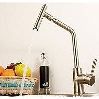 UHM acciaio inossidabile304 rubinetto di cucina a caldo a freddo miscelatore nichel spazzolato tocca-0525-2