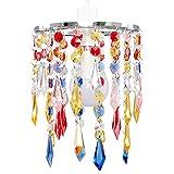 MiniSun – Eleganter Lampenschirm mit bunten Tröpfchen aus Acryl im Kronleuchterstil – für Hänge-/Pendelleuchte