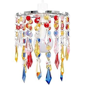 Minisun elegant chandelier design ceiling pendant light shade with minisun elegant chandelier design ceiling pendant light shade with beautiful multi coloured acrylic jewel aloadofball Images