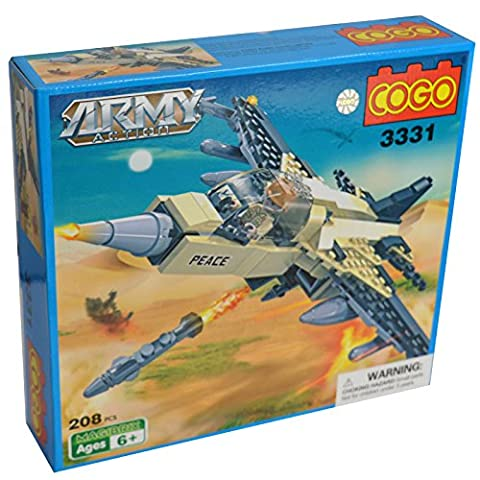 Army Military Base Fighter Jet Striker Kids Building Blocks kids toy set - 208 Pieces