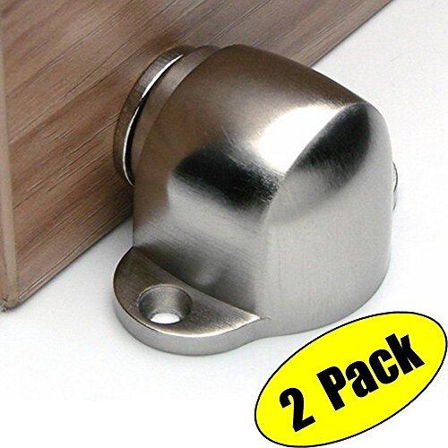 UHPPOTE Legierung Magnetisch Türstopper Tür Stopper Mit Fang Schraube Montieren Stock Gebürstet Fertig (Packung mit 2 - Magnetisch Tür-halter