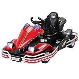 Actionbikes Motors Kinder Elektroauto Go Kart Auto Elektrofahrzeug 45 Watt Motor Spielzeug Go-Kart DMD288 mit Rammschutz und LED's (Rot)