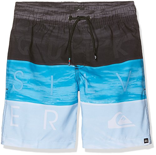 Quiksilver-jungen-shorts Herren (Quiksilver Jungen WORDWAVESVLY15 Word Waves 15 Zoll Schwimmshorts, Blue Danube, S/10)