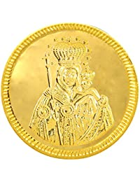 Joyalukkas 22k (916) 4 gm BIS Hallmarked Yellow Gold Precious Coin with St.Mary Design