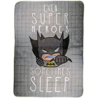 Warner Bros Batman Colcha, microfibra, gris, individual, 250x 170x 5cm