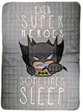 Warner Bros Batman Trapunta, Microfibra, Bianco, Singolo, 250 x 170 x 5 cm