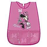 PERLETTI Grembiule Bambina Minnie - Coprigrembiule Bimba Impermeabile in PVC con Tasca Frontale - Ideale per Proteggere i Vestiti da Macchie e Pittura - 3/5 Anni - Rosa