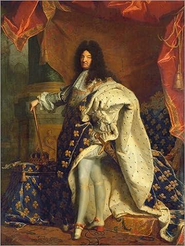 Forex 30 x 40 cm: Louis XIV in Royal Costume de Hyacinthe Rigaud / Bridgeman Images