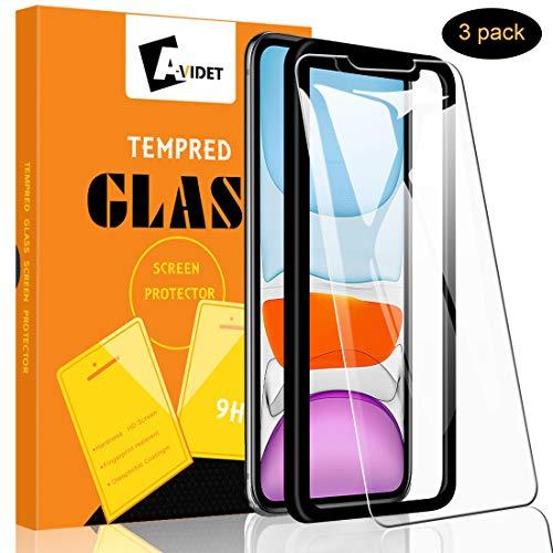 Textur Einfügen (A-VIDET 3 Stück Panzerglas für iPhone 11/iPhone XR, 9H Härte Schutzfolie Anti-Kratzer/Anti-Öl/Anti-Bläschen/Anti-Staub Displayfolie Panzerglasfolie für iPhone 11/iPhone XR 6.1 Zoll)