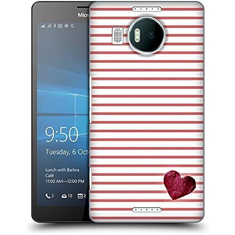 Ufficiale Monika Strigel Rosso Piccolo Cuore Cover Retro Rigida per Microsoft Lumia 950 XL