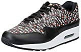 Nike Men's Mike Air Max 1 Premium Shoe, Scarpe da Ginnastica Basse Uomo, Multicolore (Black/White/Total Orange 001), 42.5 EU