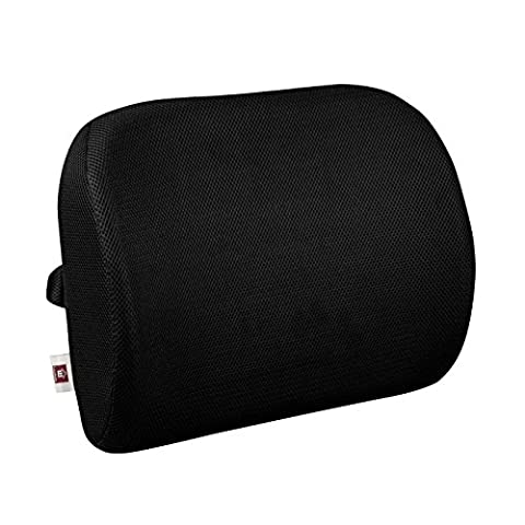 LoveHome Memory Foam Lumbar Support Back Cushion With 3-Way Strap