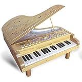 Spielzeug Klavier, Vicoki 37 Schlüssel Holz Klavier Kinder Musik Tastatur Spielzeug Fotografie Requisiten mit Lichteffekt
