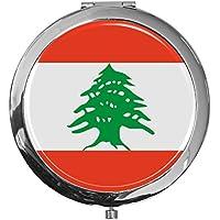 "metALUm - Extragroße Pillendose in runder Form""Flagge Libanon"" preisvergleich bei billige-tabletten.eu"