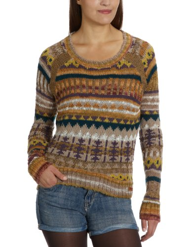 only-damen-pullover-all-over-druck-15067314-milan-short-knit-pullover-gr-36-s-mehrfarbig-golden-brow