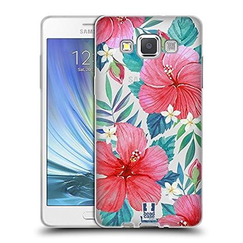 Head Case Designs Hibiscus Tropical Fleurs À L'aquarelle 2 Étui Coque en Gel molle pour Samsung Galaxy A5