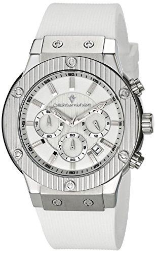 christian-van-sant-homme-43mm-bracelet-caoutchouc-blanc-boitier-acier-inoxydable-quartz-montre-cv812