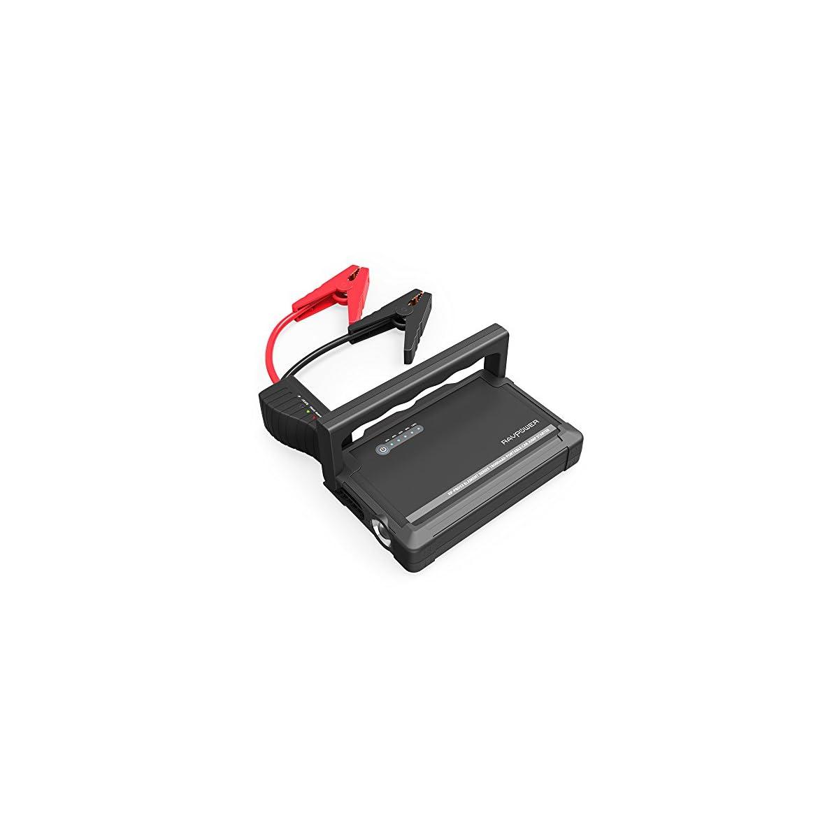 515OgRWJIRL. SS1200  - Jump Starter 18000mAh Arrancador de Coche de 600A Bateria Externa Pack de Emergencia Dual USB, Protección de Seguridad, para Todos Motores Diesel o Gasolina 3L o 6L