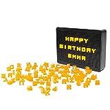 Opard LED Lichtbox A5 Lightbox - LED Leuchtkasten mit 100 Orange Buchstaben Zahlen,Lichtkasten Leuchttafel Leuchtschild als Zimmer Partys Deko 1.2m USB Netzteil