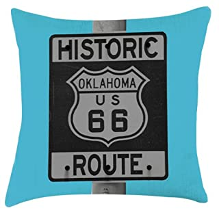 Artylicious Route 66 photograph print cushion 18 x 18:
