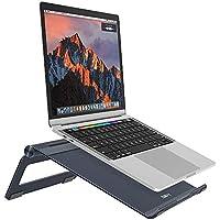 Soporte para Laptop,Nulaxy Soporte de Portátil Ajustable, Laptop Stand para 11-17 pulgadas MacBook / Ordenadores Portátiles/Notebook,Hecho de Aleación de Aluminio,Gris