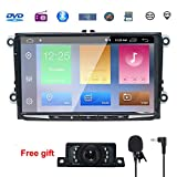 NVGOTEV 9 Inch Android Double Din Compatible for Golf, 8.1 Android CAR Stereo Radio Video Receiver Quad Core System 2GB RAM GPS Navigation Bluetooth USB Radio WiFi 4G OBD2 DVR DVB-T DAB+
