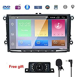 9 Inch Android Double Din Compatible for Golf,Android 9.0 CAR Stereo Radio Video Receiver Quad Core System 2GB RAM GPS Navigation Bluetooth USB Radio WiFi OBD2 DVR DVB-T DAB+