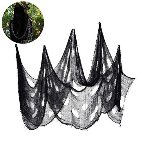 Kostüm Freaky Scary - Oyria Halloween gruseligen Stoff, 2 * 4M Freaky lose Weben gruseligen Stoff Stoff Scary Spooky Halloween Dekoration