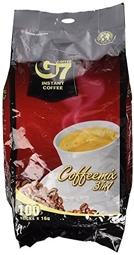 TRUNG NGUYEN Chunguen G7 16gX100 Taschen sofort hei?es Eis Kaffee 3in1 Vietnam Kaffee...