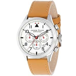 James Tyler Montres - JT706-2 - Montre Homme - Quartz Chronographe - Bracelet Cuir Marron