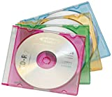 ednet Farbige CD/DVD Slim Case Leerhüllen, 20er-Pack