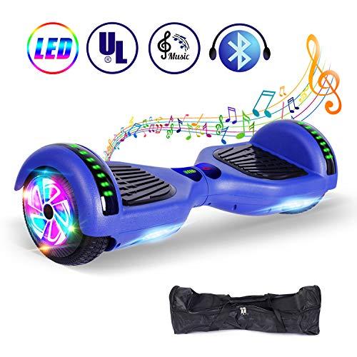 """jolege Hoverboard Monopattino Elettrico Bambino, Bluetooth 2 * 300W Motore, 6.5\"""" Self Balance Scooter Elettrico con, Borsa Gratuita, UL Certificazione"""