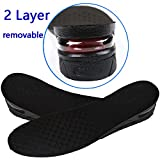 YNXing Air Cushion Height Increase Heel Lift Taller Insoles Trainers Insoles Increased Insole Breathable Height Increase Insole (Black)