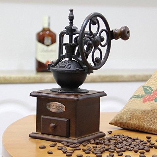Hemore Vintage Manuelle Kaffeemühle Rad Design Kaffee Bohnen Mühle Mahlmaschine Home Zubehör